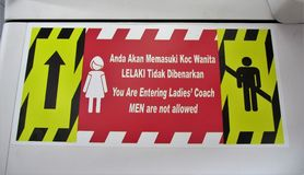 Ladies coach sign Royalty Free Stock Photography