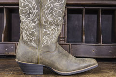 Ladies Cowboy Boots Royalty Free Stock Photography