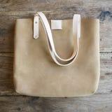 Ladies designer leather bag Stock Images
