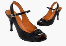 Ladies designer shoes Royalty Free Stock Photos