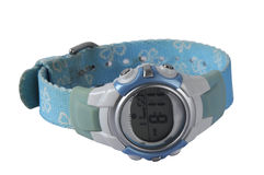 Ladies Digital Sports Watch Stock Photos