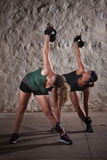 Ladies Doing Boot Camp Workout Stock Image