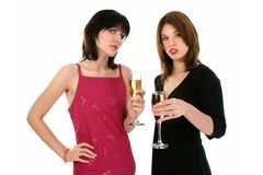 Ladies Drinking Champagne stock image
