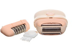 Ladies electric hair remover shaver depilator Stock Photos