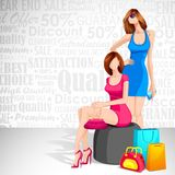 Ladies enjoying Sale Royalty Free Stock Images