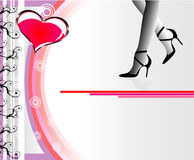 Ladies Event Flayer. Flayer or brochure for ladies night event Stock Photos