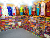 Ladies Fancy Dresses. Fancy South Asian ladies Dresses on display in a garments shop Royalty Free Stock Image
