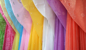Ladies fancy dresses. Fancy south asian ladies dresses on display in garments shop, India Stock Photography