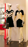 Ladies fashion clothes. Mannequins displaying contemporary fashion clothing for ladies stock photo