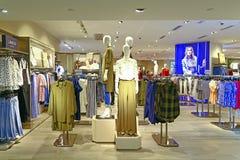 Ladies fashion clothes store Stock Photos