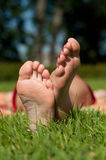 Ladies feet Stock Image