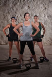 Ladies Finishing Boot Camp Workout Royalty Free Stock Image