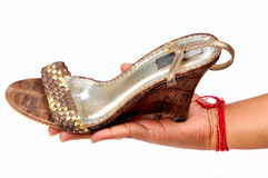 Ladies footwear royalty free stock photography
