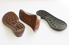 Ladies footwear outsoles Stock Image
