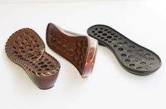 Ladies footwear outsoles stock image