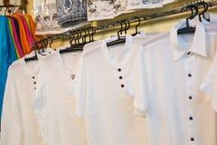 Ladies garments, shirt shop Royalty Free Stock Photography