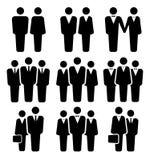 Ladies and gentlemen. Ladies and gentelmen. Business icon set Stock Photography