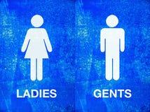 Ladies and gentlemen toilet sign Royalty Free Stock Photo