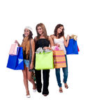 Ladies with giftbags Stock Image