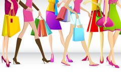 Ladies going for shopping Stock Image