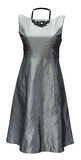Ladies grey dress, clipping path Stock Images