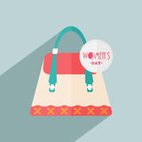 Ladies hand bag for Happy Women's Day celebration. Royalty Free Stock Photo