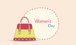 Ladies hand bag for Happy Women's Day celebration. Stock Image