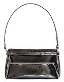 Ladies handbag from black patent leather Royalty Free Stock Photography