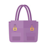Ladies handbag in flat style. Female bag isolated. Ladies handbag in flat style. Female handbag isolated on white background. Elegant ladies two colored bag Royalty Free Stock Image