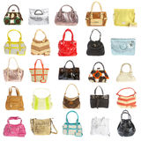 Ladies' handbag on a white background Royalty Free Stock Image