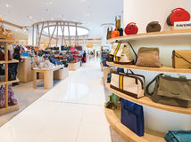 Ladies handbags in Siam Paragon Mall, Bangkok Royalty Free Stock Images