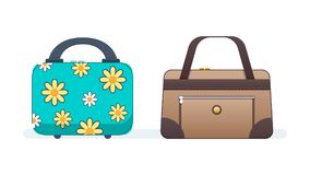Ladies handbags for women, girls, for shopping, trips, everyday walks. Royalty Free Stock Images
