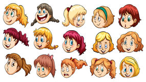 Ladies heads. On a white background Royalty Free Stock Image