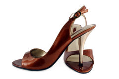 Ladies high heel shoes Stock Photography