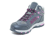 Ladies hiking waterproof shoes - Walking Tourist ankle boots Stock Photo