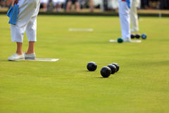 Ladies Lawn Bowls Royalty Free Stock Photography