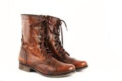 Ladies leather boots Stock Photo