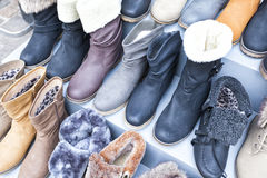 Ladies leather boots Stock Photos