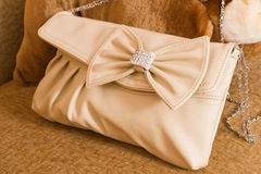 Ladies' leather handbag. Stock Image