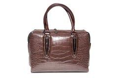 Ladies leather handbag brown. Studio, still life photography Stock Images