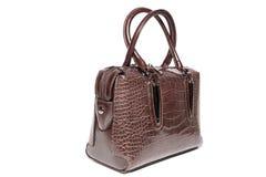 Ladies leather handbag brown Royalty Free Stock Image