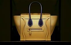 Ladies leather handbag stock photo