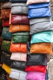 Ladies leather handbags Stock Photo