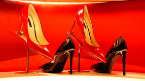 Ladies leather shoes Stock Photography