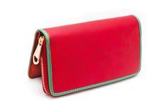 Ladies leather wallet Stock Photo