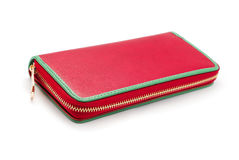 Ladies leather wallet stock images
