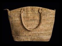 Cork handbag purse isolated Royalty Free Stock Photos