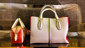 Ladies luxury handbags royalty free stock photography