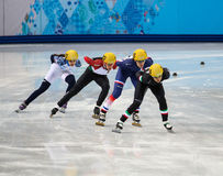 Ladies' 1000 m Heats Short Track Heats Royalty Free Stock Images