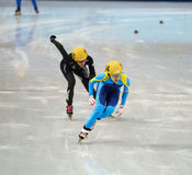 Ladies' 1000 m Heats Short Track Heats Stock Photos